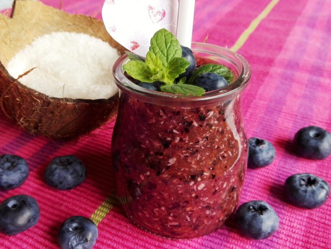 Blueberry - watermelon smoothie